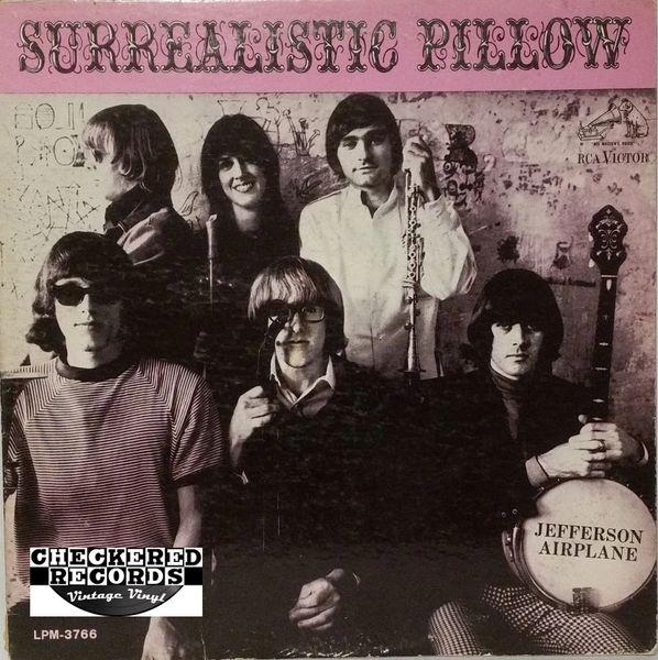 Vintage Jefferson Airplane Surrealistic Pillow First Year Pressing Mono 1967 US RCA Victor LPM 3766 Vinyl LP Record Album