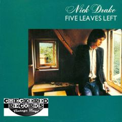 Vintage Nick Drake ‎Five Leaves Left 1976 US Antilles AN-7010 Vinyl LP Record Album