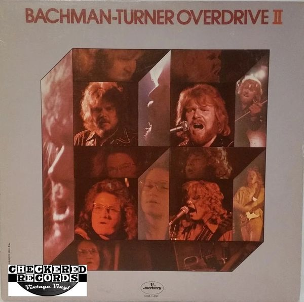 Vintage BTO Bachman-Turner Overdrive ‎Bachman-Turner Overdrive II 1974 US Mercury ‎SRM-1-696 Vinyl LP Record Album