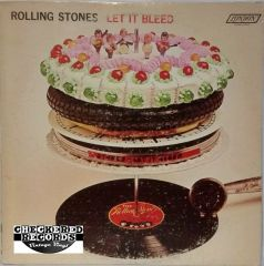 Vintage Rolling Stones Let It Bleed First Year Pressing 1969 US London Records ‎NPS-4 Vinyl LP Record Album