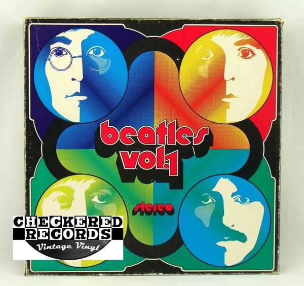 Vintage The Beatles The Beatles ΑΩ Alpha Omega Four Record Box Set Pink Label TV Productions ATRBH 1972 Vintage Vinyl LP Record Album
