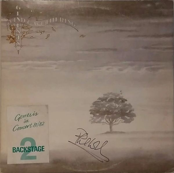 Phil Collins Signed Autographed Record Album With 1981 Genesis Abacab Tour Backstage Pass On Genesis Wind & Wuthering Vintage Vinyl Record Album