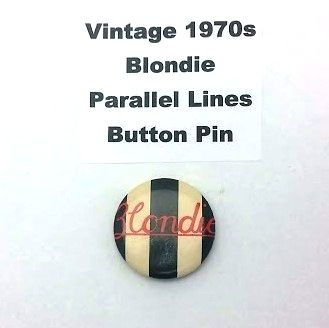 Vintage 1970s Blondie Parallel Lines Button Pin