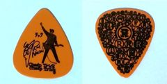 Authentic Original Cheap Trick Rick Nielsen 2010 Guitar Pick Orange Authentic Concert Guitar Pick