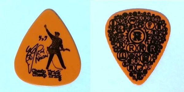 Authentic Original Cheap Trick Rick Nielsen 2010 Guitar Pick Orange Authentic Concert Guitar Pick
