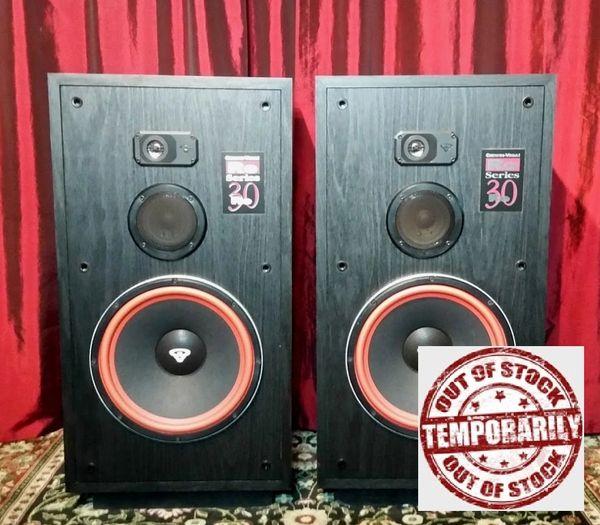 Vintage Cerwin Vega RE-30 Three Way Floor Standing Stereo Speakers