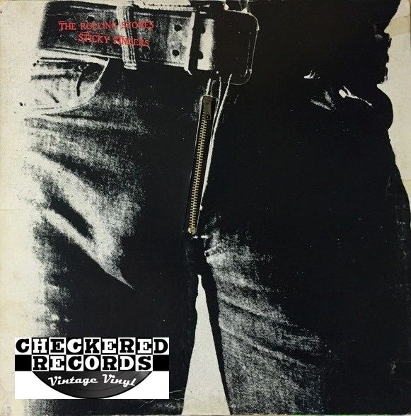 The Rolling Stones Sticky Fingers Zipper Cover First Year Pressing 1971 US Rolling Stones Records COC 59100 Vintage Vinyl Record Album