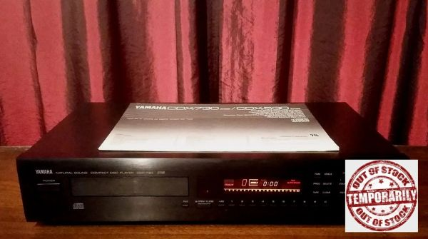 Vintage 1989 Yamaha CDX-730 Stereo Compact Disc Player CD Player