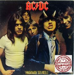AC/DC Highway To Hell First Year Pressing 1979 Atlantic SD-19244 Vintage Vinyl LP Record Album