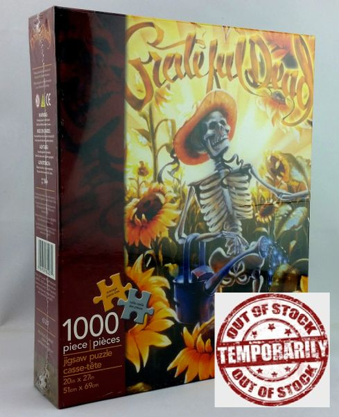 Vintage Grateful Dead The Grateful Grower Richard Biffle 1000 Piece Jigsaw Puzzle Aquarius 65-207 Unopened 2011 New Old Stock