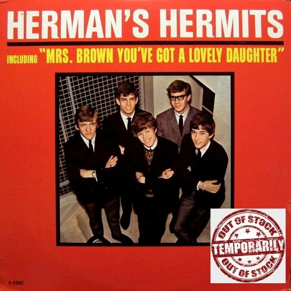 Vintage Herman's Hermits Introducing Herman's Hermits First Year Pressing 1965 US MGM Records E4282 Vintage Vinyl LP Record Album