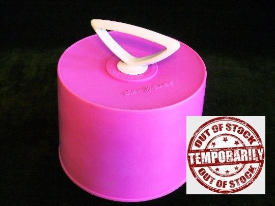Vintage 1960s Hot Pink Disk Go Case 45 RPM Record Case Carrying Case