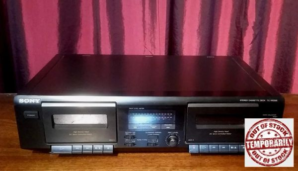 Vintage Sony TC-WE305 Double Cassette Tape Deck Tested