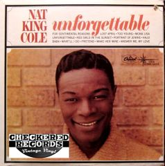 Nat King Cole ‎Unforgettable 1966 US Capitol Records ‎T-357 Vintage Vinyl Record Album