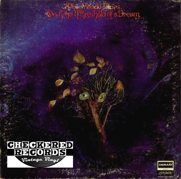 The Moody Blues On The Threshold Of A Dream First Year Pressing 1969 US Deram DES 18025 Vintage Vinyl Record Album