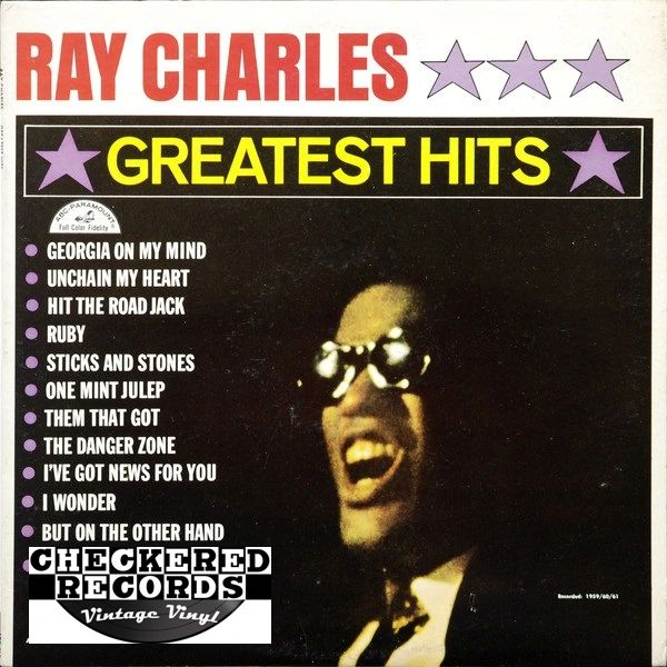 Ray Charles ‎Greatest Hits First Year Pressing 1962 Mono ABC-Paramount ‎ABC 415 Vintage Vinyl Record Album