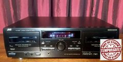 Vintage JVC TD-W254 HX Pro Dolby Double Cassette Tape Deck Tested