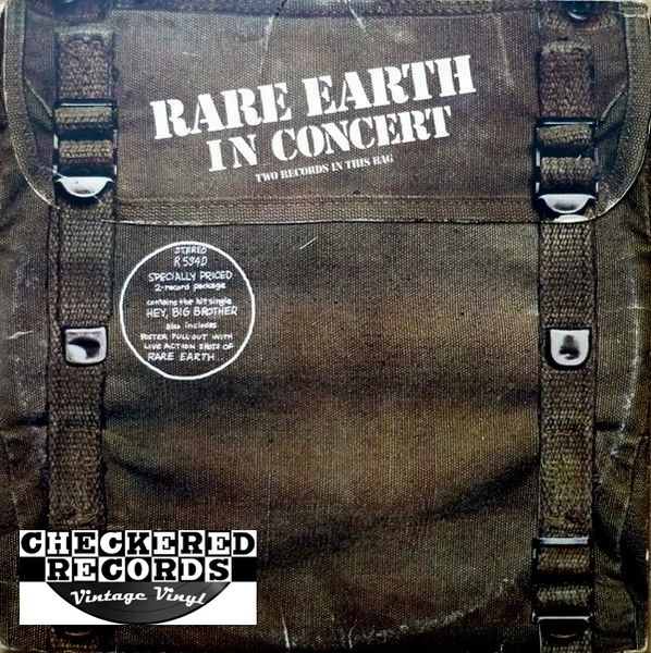 Rare Earth Rare Earth In Concert First Year Pressing 1971 US Rare Earth R 534D-1 Vintage Vinyl Record Album