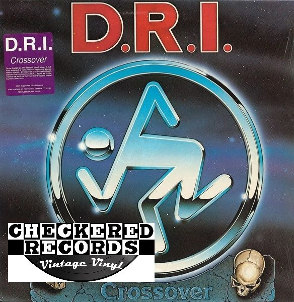 Vintage D.R.I. Crossover With Liner Notes Page First Year Pressing Restless Records / Death Records 72201-1 / DEATH 011 US 1987 Vinyl LP Record Album