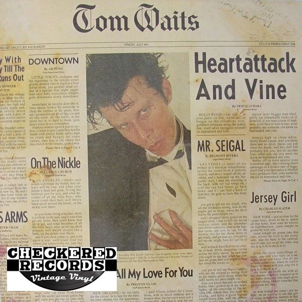 Tom Waits ‎Heartattack And Vine First Year Pressing 1980 US Asylum Records ‎6E-295 Vintage Vinyl Record Album