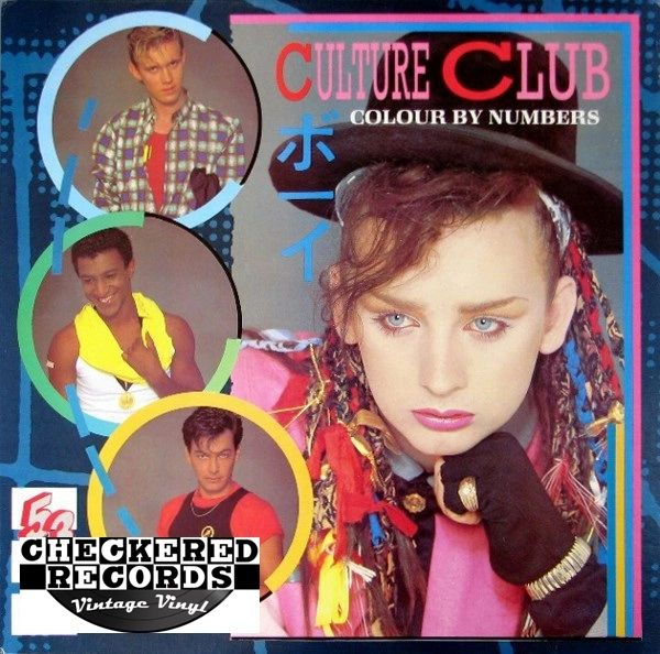 Culture Club Colour By Numbers First Year Pressing 1983 US Virgin QE 39107 Vintage Vinyl Record Album