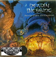 Vintage Deadly Blessing Ascend From The Cauldron First Year Pressing 1988 New Renaissance Records NRR-37 NM+ Vintage Vinyl LP Record Album