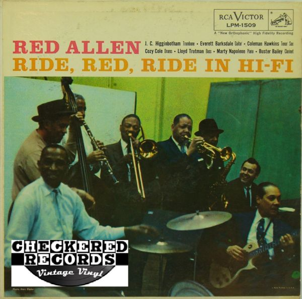 Red Allen Ride Red Ride In Hi-Fi First Year Pressing 1957 US RCA Victor LPM-1509 Vintage Vinyl Record Album