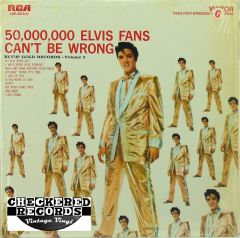 Vintage Elvis Presley 50,00,000 Elvis Fans Can't Be Wrong RCA Victor LSP-2075(e) W/ Shrink Wrap NM Vintage Vinyl LP Record Album