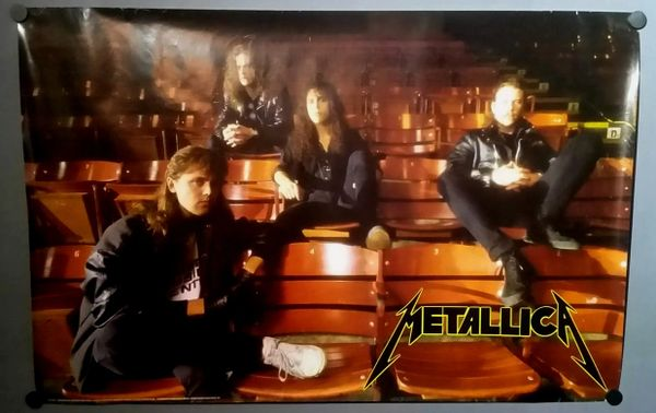 Vintage 1989 Metallica Bleachers Band Photo Poster