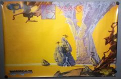 Vintage 1991 Yes Years Double Sided Promotional Poster