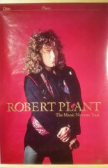 Vintage 1990 Robert Plant The Maniac Nirvana Tour Promotional Tour Poster