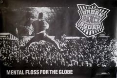 Vintage 1990 Urban Dance Squad Mental Floss The Globe Promotional Poster