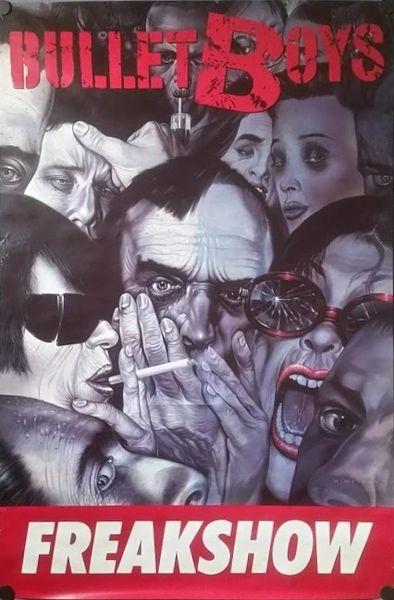 Vintage 1991 Bullet Boys Freak Show Promotional Poster