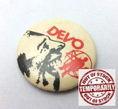 Vintage 1970s Devo Duty Now For The Future Pin Button Badge