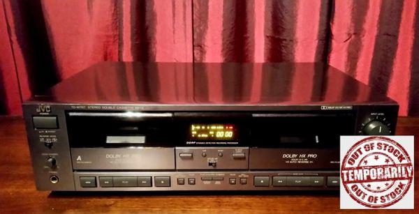 Vintage JVC TD-W707 Double Dual Cassette Deck Tested