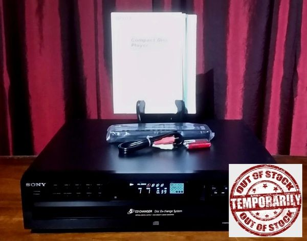 Vintage 2009 Sony CDP-CE375 Five Disc Compact Disc Player