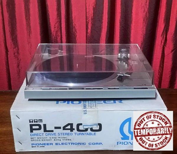 Vintage 1979 Pioneer PL-400 2-Speed Direct-Drive Turntable