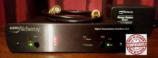 Audio Alchemy Digital Transmission Interface v2.0 DTI v2.0 with Power Station Four High Current Dual Output Power Supply