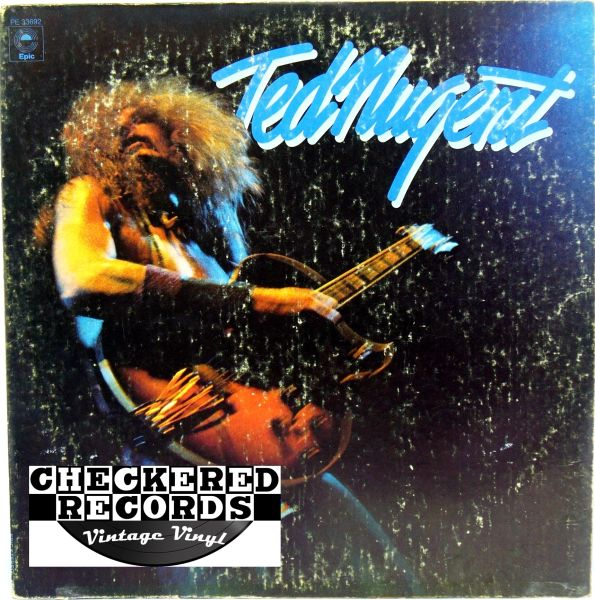Vintage Ted Nugent Ted Nugent Self Titled First Year Pressing 1975 US Epic PE 33692 Vintage Vinyl LP Record Album