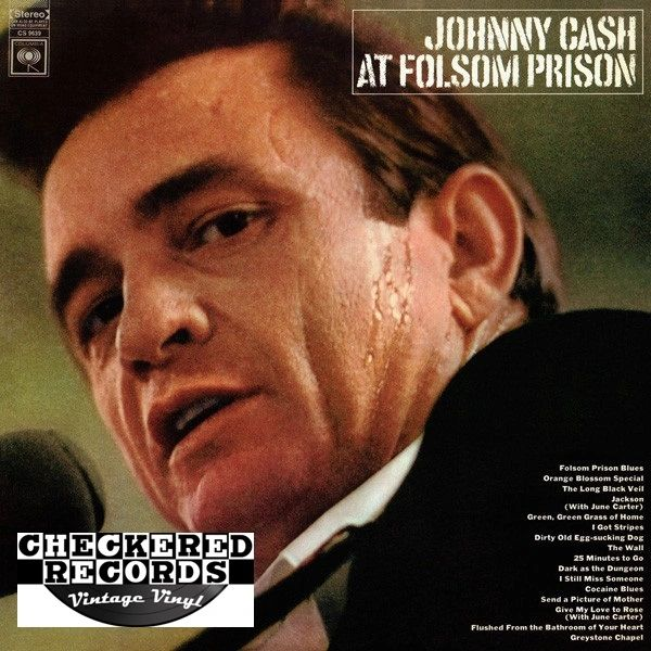 Johnny Cash At Folsom Prison First Year Pressing 1968 US Columbia CS 9639 Vintage Vinyl Record Album