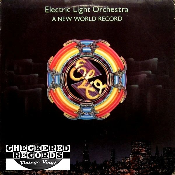 ELO Electric Light Orchestra A New World Record First Year Pressing 1976 US United Artists Records Jet Records UA-LA679-G Vintage Vinyl Record Album