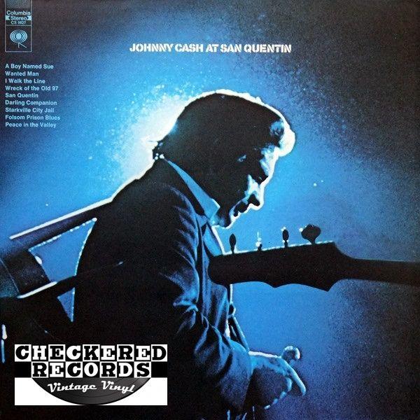 Johnny Cash Johnny Cash At San Quentin First Year Pressing 1969 US Columbia CS 9827 Vintage Vinyl Record Album