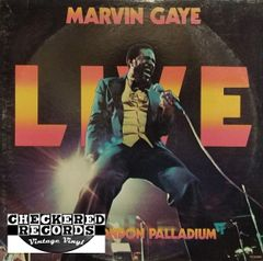Marvin Gaye At The London Palladium First Year Pressing 1977 US Tamla ‎T7-352R2 Vintage Vinyl Record Album