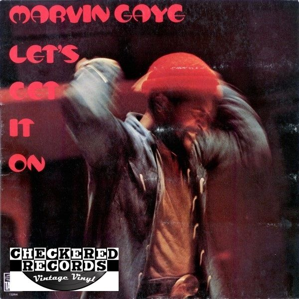 Marvin Gaye Let's Get It On First Year Pressing 1973 US Tamla T 329V1 Vintage Vinyl Record Album