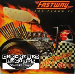 Vintage Fastway All Fired Up First Year Pressing 1984 US Columbia FC 39373 Vintage Vinyl LP Record Album