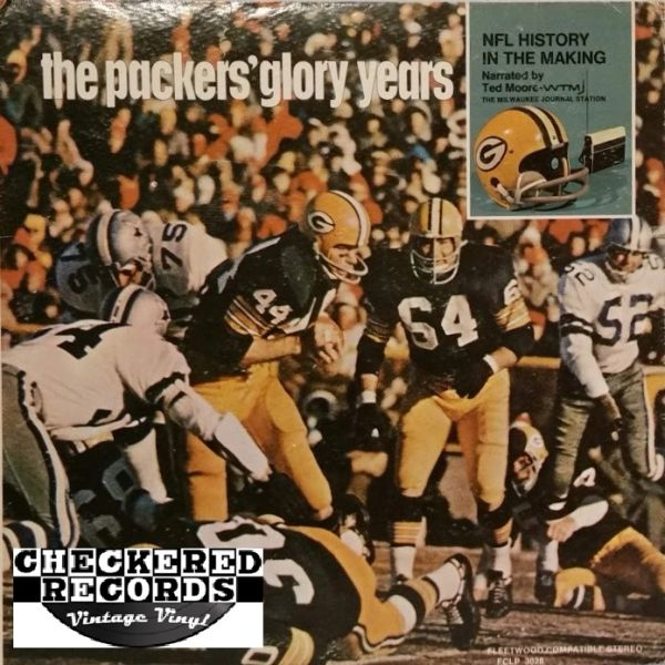 The Packers' Glory Years NFL History In The Making Ted Moore First Year Pressing 1968 US Fleetwood Records FCLP 3028 Vintage Vinyl Record Album