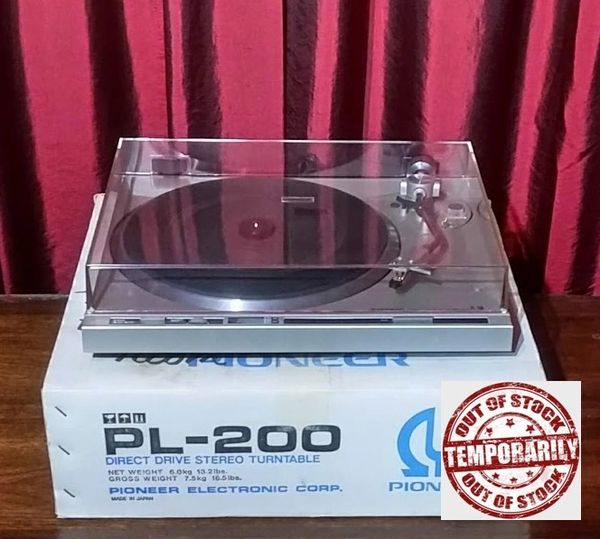 Vintage 1979 Pioneer PL-200 2-Speed Direct-Drive Turntable
