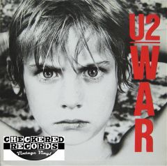 U2 ‎War First Year Pressing 1983 Blue Label Island Records ‎90067-1 Vintage Vinyl Record Album