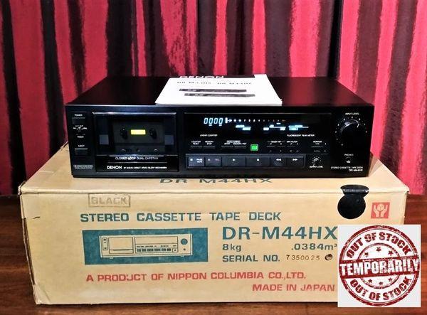 Vintage 1986 Denon DR-M44HX Stereo Cassette Tape Deck