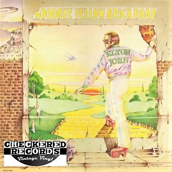 Elton John Goodbye Yellow Brick Road First Year Pressing 1973 US MCA Records MCA2-10003 Vintage Vinyl Record Album